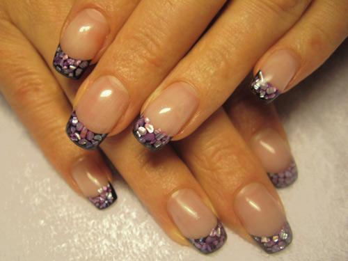 Нарощенные ногти блестящие